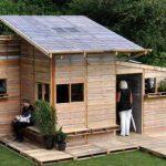 Maison en palettes de bois